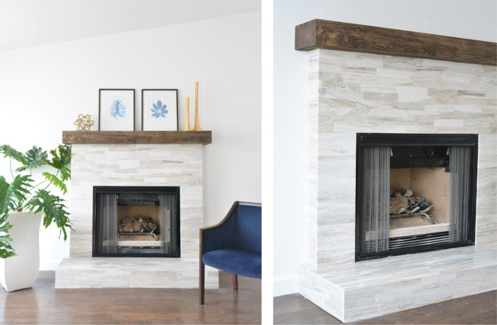 Marble Fantasy Due Fireplace