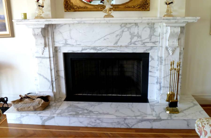 Marble Fantasy White Fireplace